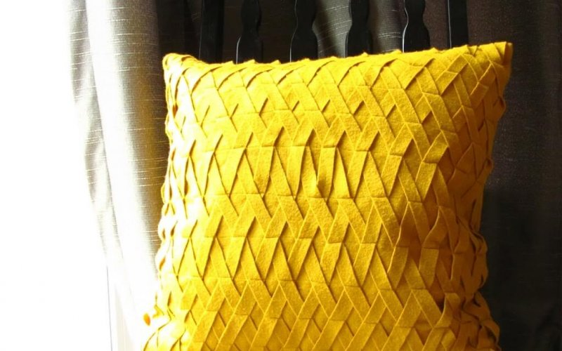 Felt Lattice Pillow