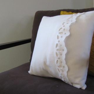 Felt Eyelet Pillow