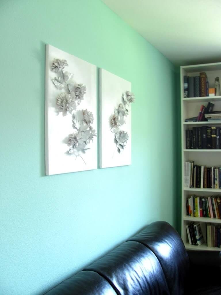 Project Get Something on My Walls: 3D Floral Canvas