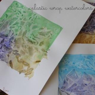 Plastic Wrap Watercolors
