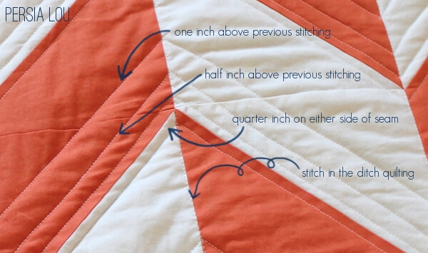 Herringbone Quilts Part Two - Persia Lou : in the ditch quilting - Adamdwight.com