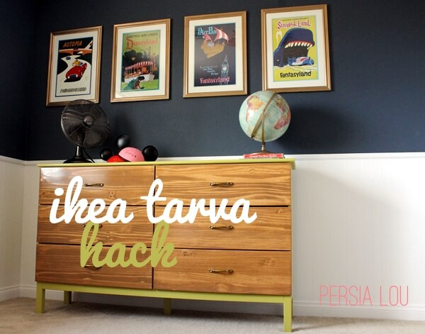 Ikea Ideas For Kitchen Storage ~ Ikea Tarva Hack Vintage Disneyland Room Dresser  Persia Lou