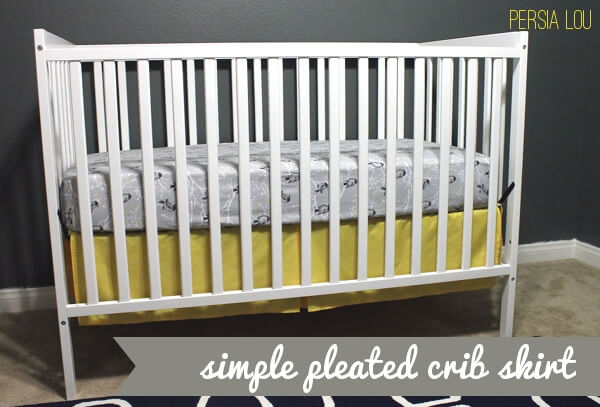 Make a Simple Pleated Crib Skirt