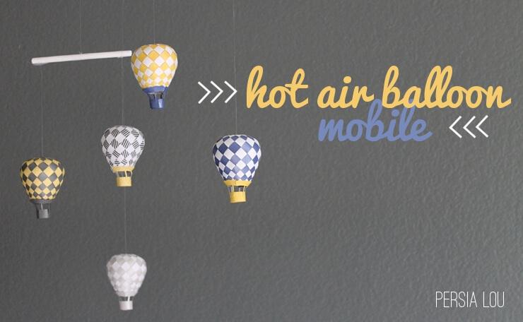 Hot Air Balloon Mobile Persia Lou