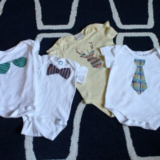 Easier Than Applique Painted Patterned Onesies