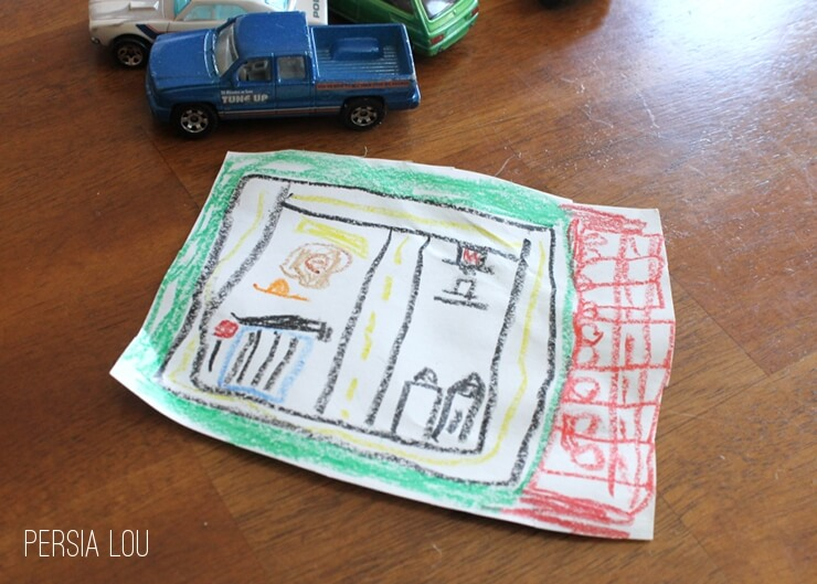 Kid-Designed DIY: Make Your Own Play Mat for Cars - Persia Lou