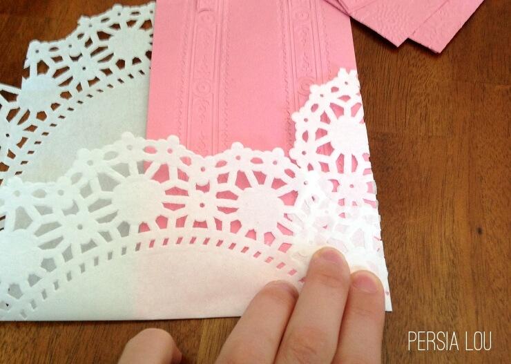 Diy Lacy Paper Doily Envelopes Persia Lou