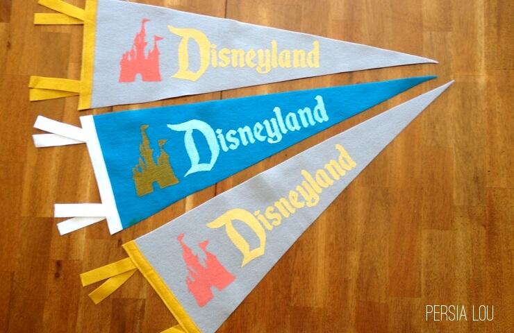 DIY Vintage Disneyland Pennants