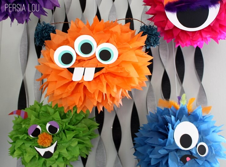 could these guys hang at your next halloween party - Halloween Pom Poms