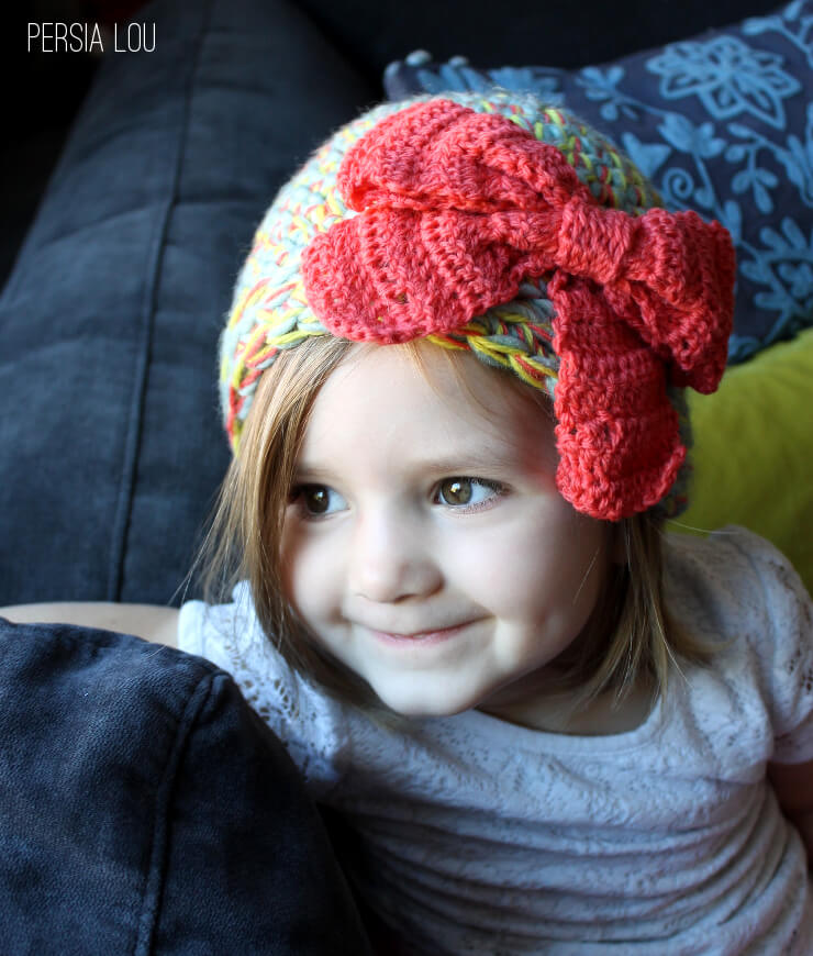 Multi-Strand Big Bow Hat: Crochet Pattern - Persia Lou
