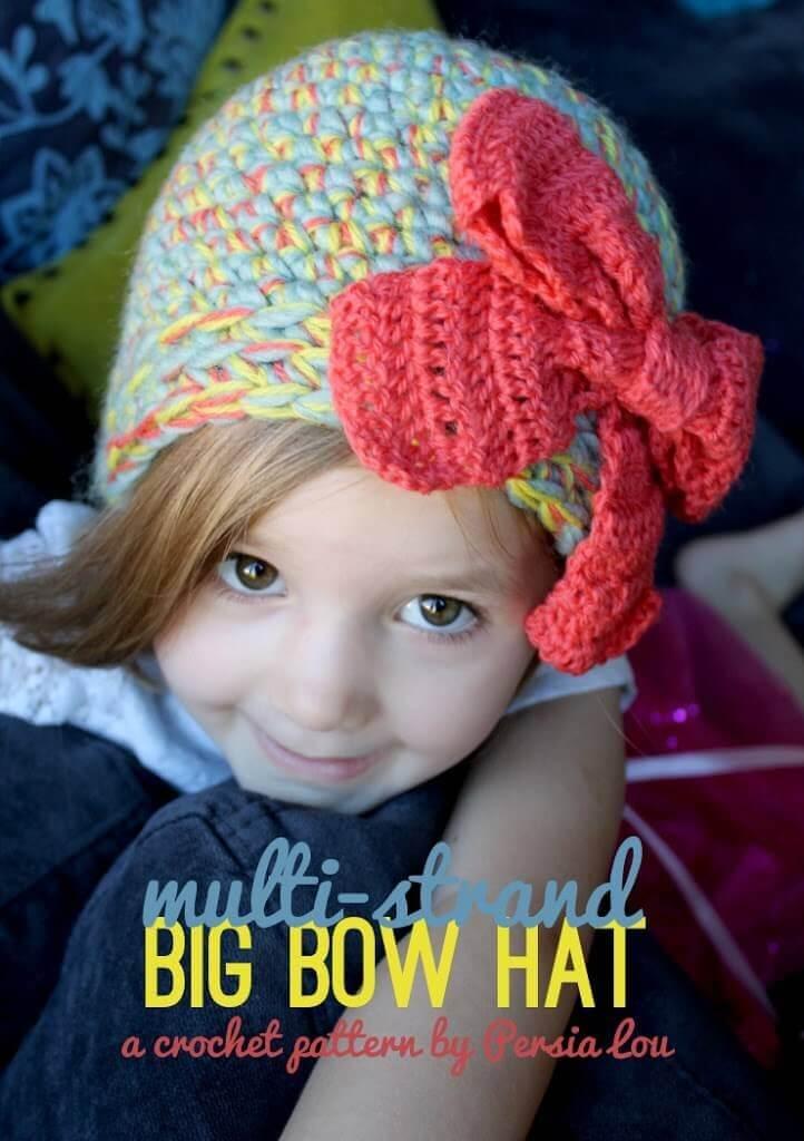 Multi-Strand Big Bow Hat: Crochet Pattern