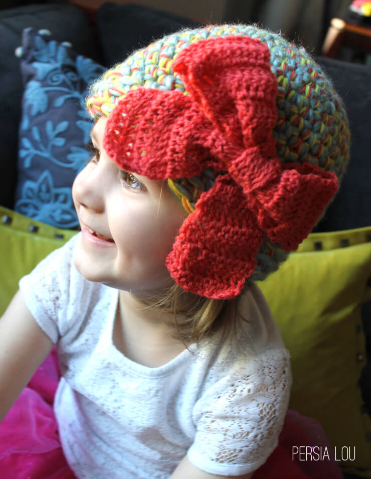 Multi Strand Big Bow Hat Crochet Pattern Persia Lou