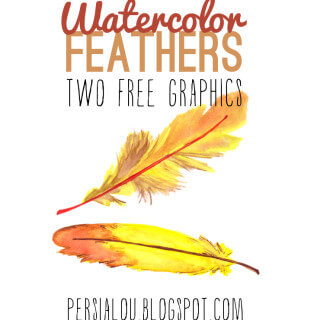 Free Watercolor Feather Graphics