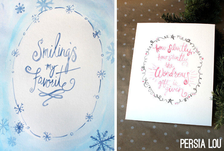 Two Free Watercolor Christmas Printables