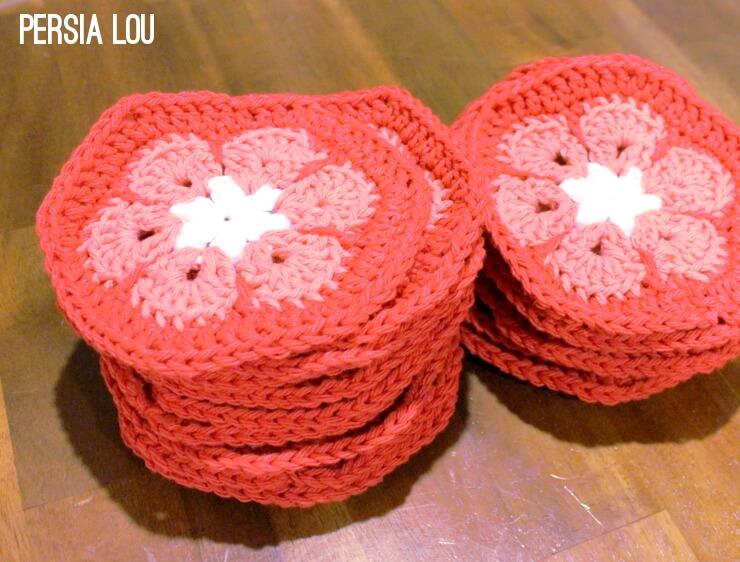 African Flower Crochet Stocking Free Tutorial Persia Lou
