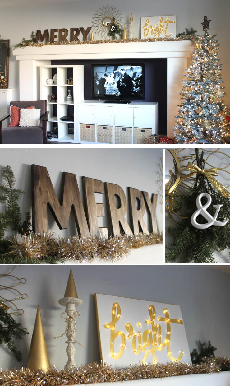 DIY Merry and Bright Christmas decor