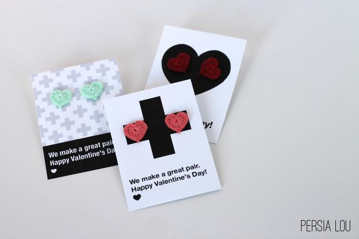 Printable Earring Valentines