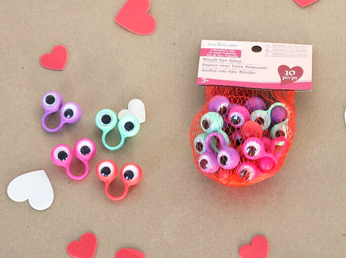 printable googly eye valentines - cute googly eye rings