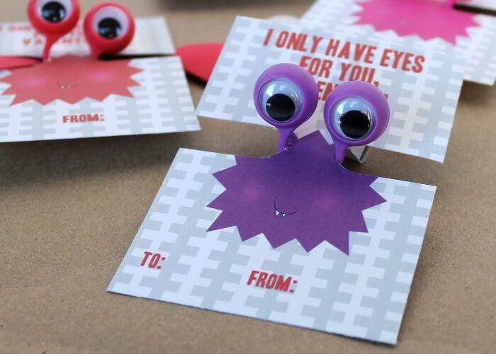 Free Printable Googly Eye Valentines