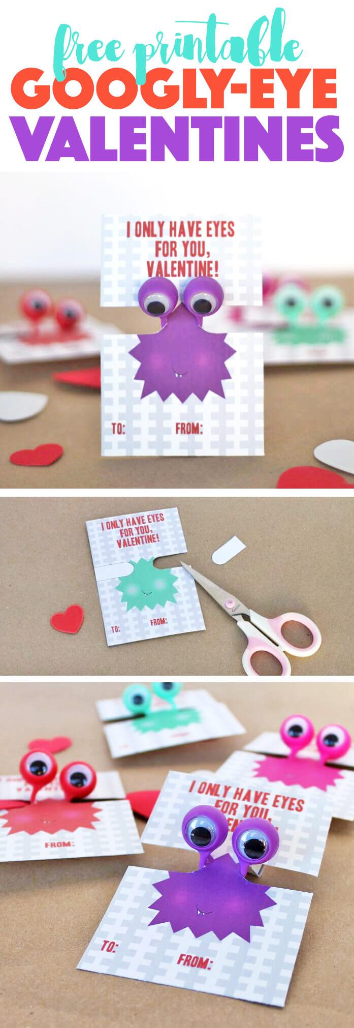 Free Printable Googly Eye Valentines Persia Lou