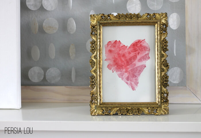 Simple Faceted Watercolor Hearts Anyone Can Make