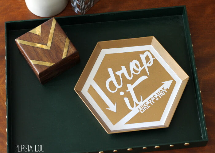 Drop It (Like It's Hot) Hexagon Tray: Silhouette Challenge