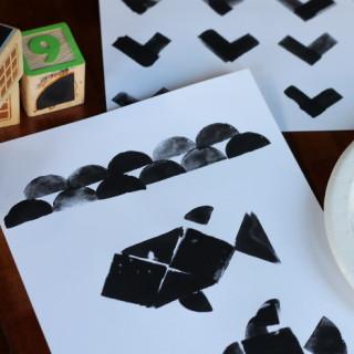 DIY Tangram Stamps and Artwork