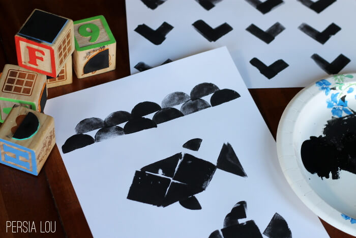 DIY Tangram Stamps and Artwork