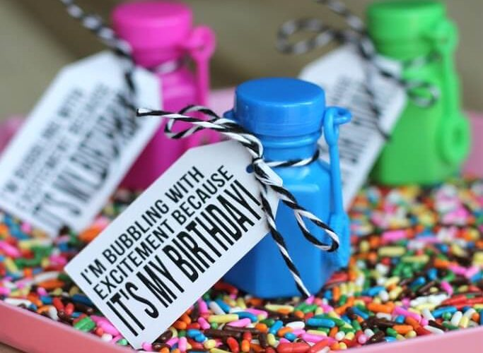 Bubbly Birthday Classroom Gifts with Free Printable and Studio File