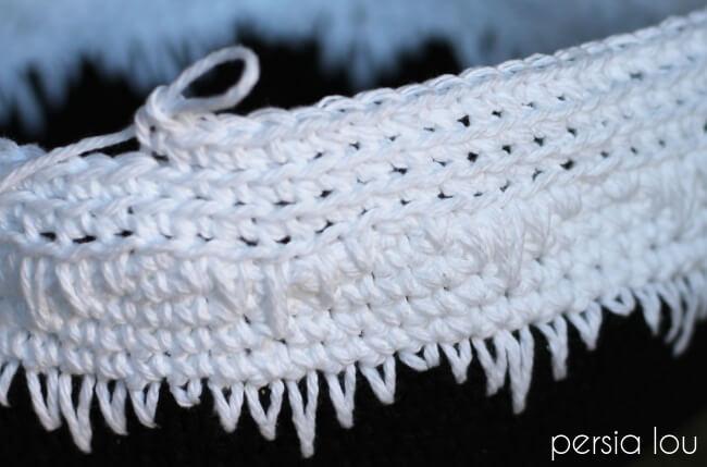 Geometric crochet basket pattern persia lou dt1010fo