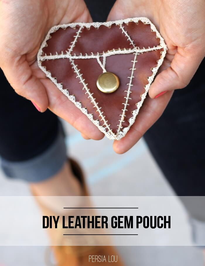Little Leather Gem Pouch