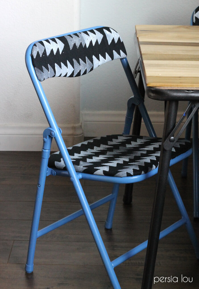 easy modern kids table set makeover