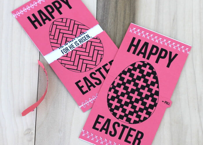 Tear Open Easter Egg Cards (Print and Cut Silhouette File)