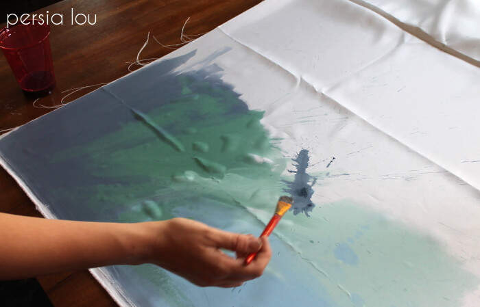 Make Your Own Watercolor Pillow