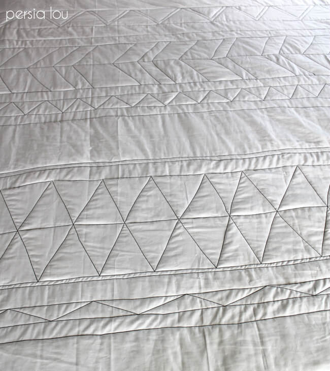 Triangle Quilt Pattern Texture Photos : No-Piece Geometric Quilt Tutorial Part One - Persia Lou