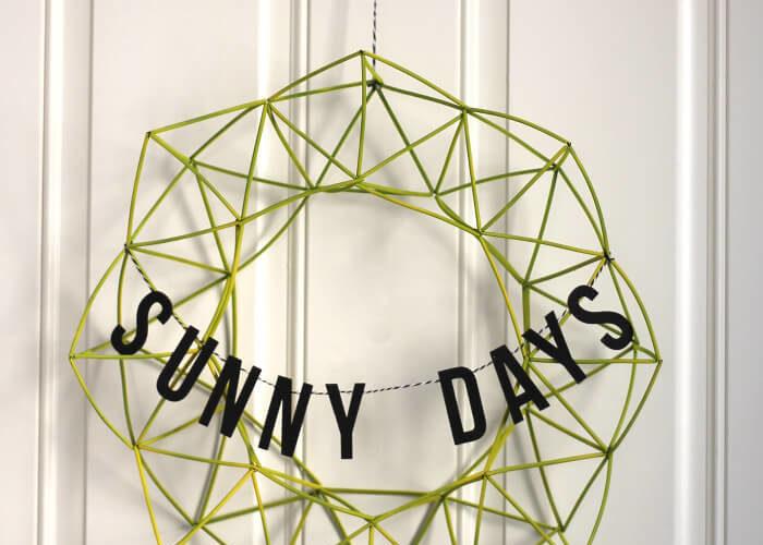 Sunny Days Himmeli Wreath and Summer Celebration