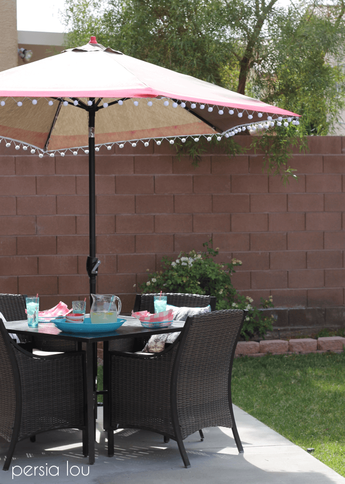 Outdoor Umbrella Upgrade And Perfect Bbq Blog Hop Persia Lou