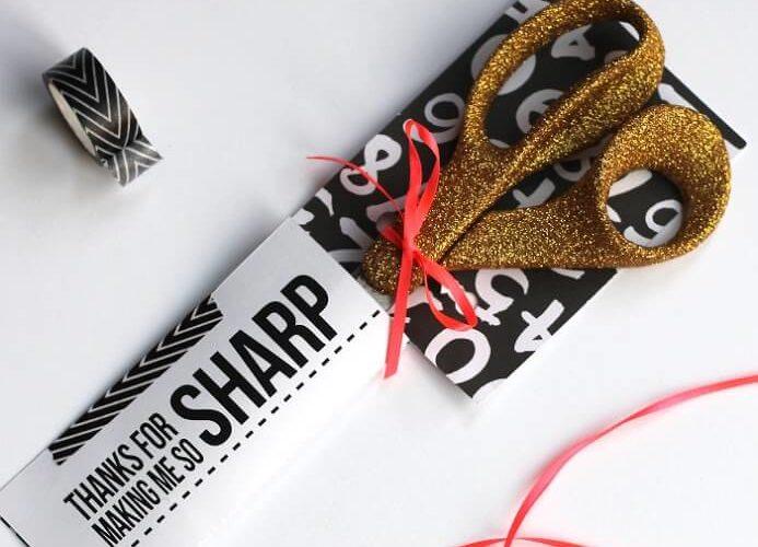 Glittery Scissors Upgrade Plus Teacher Gift Printable