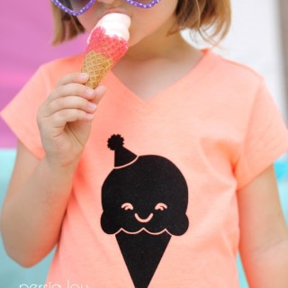 DIY Ice Cream Cone T-shirt with Free Silhouette Cut File