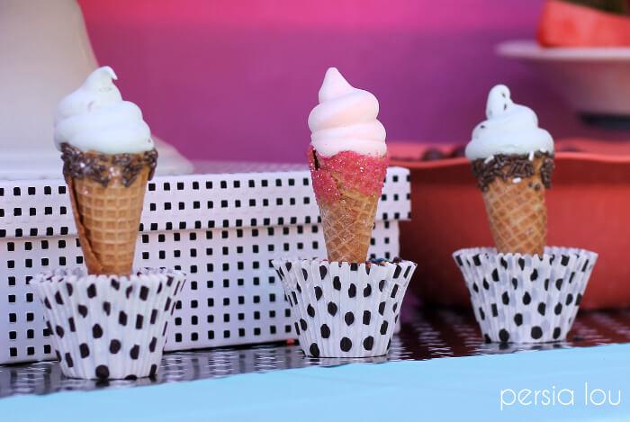 a cute ice cream birthday party
