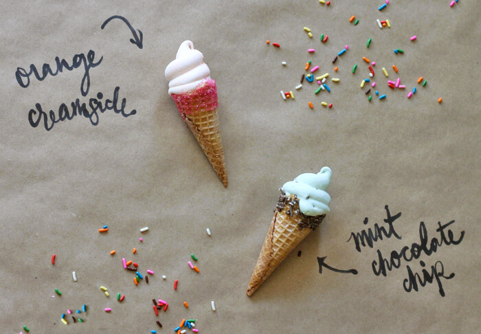 Marshmallow Ice Cream cones - yum!