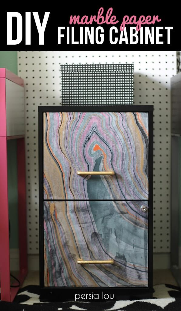 Marble Paper Filing Cabinet