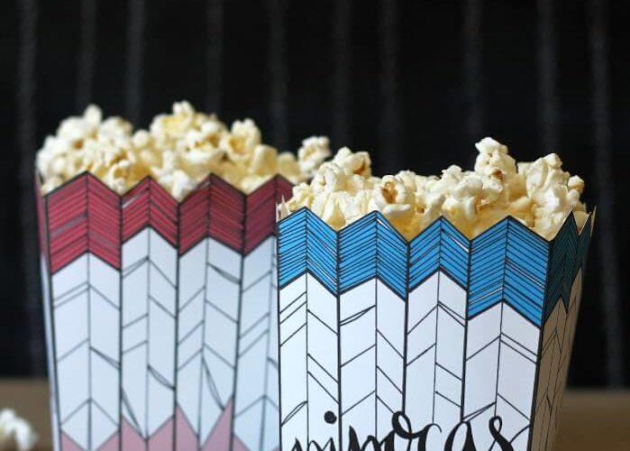 Free Printable Popcorn Box and Brazilian Themed Movie Night