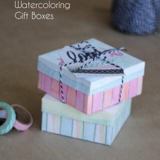 Treat Yo'Self Printable Watercoloring Gift Box