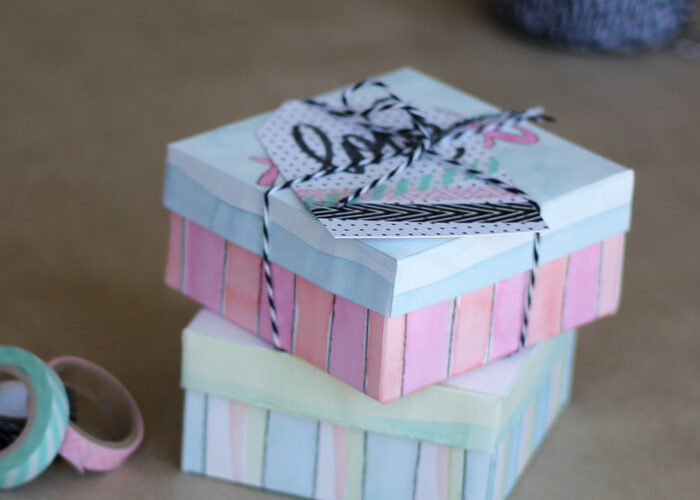 Treat Yo'Self Printable Watercoloring Gift Box