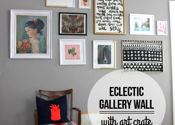 An Eclectic Gallery Wall with Art Crate