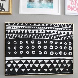 DIY Black and White Geometric Art