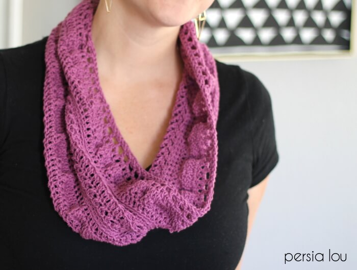 Textured Infinity Scarf Pattern Persia Lou