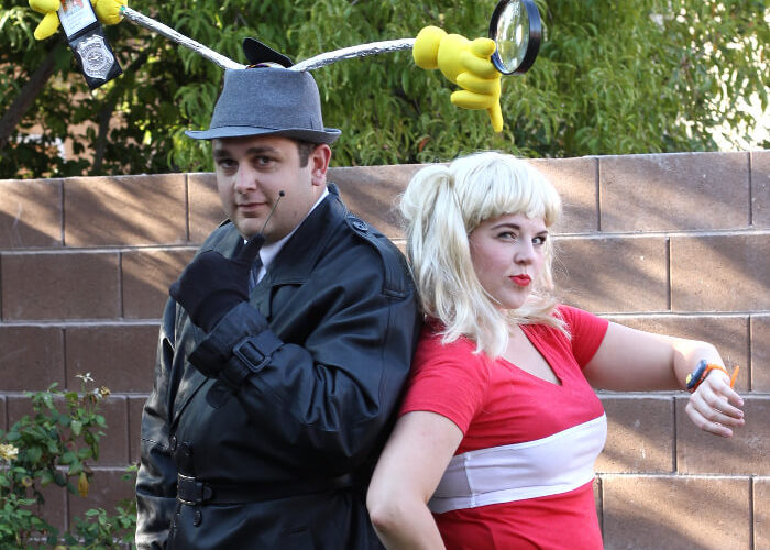 DIY Inspector Gadget and Penny Costumes
