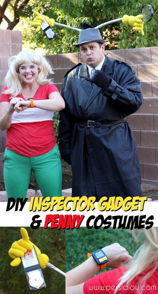 DIY Inspector Gadget and Penny Costumes - Persia Lou Inspector Silhouette
